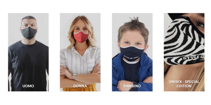 Style up mascherine lavabili prodotte in Italia